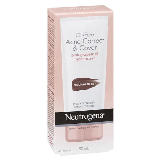 Neutrogena Acne Cover & Correct Pink Grapefruit - Medium to Tan - 50ml