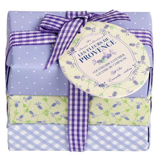 Les Fleurs de Provence Soap Set - Countryside Lavender - 3 x 100g