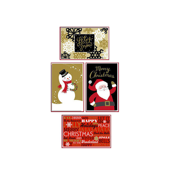 American Greetings Deluxe Christmas Cards - Red, Gold, & Black - 14  count - Assorted