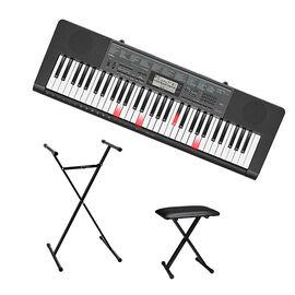 Casio 61-Key Keyboard + Casio Keyboard Bench + Casio Keyboard Stand - PKG #56320