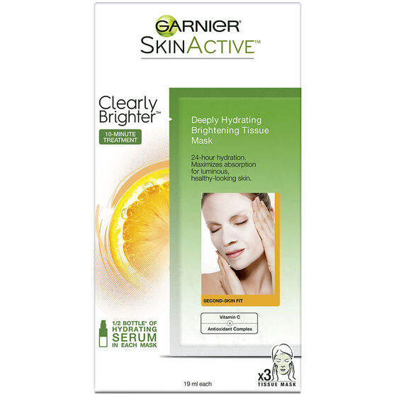 Garnier SkinActive Clearly Brighter Mask - 3's