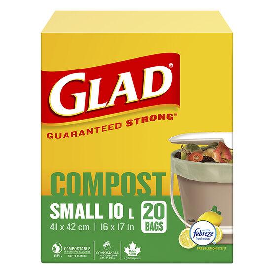 Glad Compostable Bags - Lemon - Small 20's