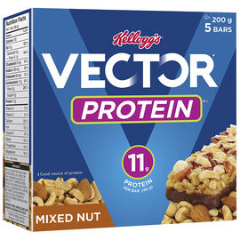 Kellogg's Vector Protein Bars - Mixed Nut - 5 pack