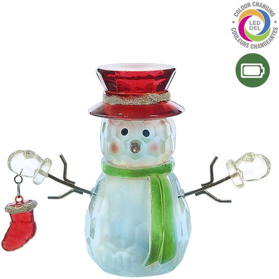 Danson LED Colour Snowman - 3.5in