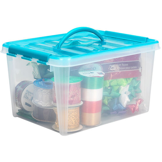 Snapware Smart Store with Turquoise Handles - 15.8L
