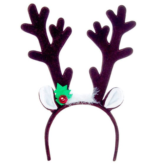 Winter Wishes Antler Headband with Ears - 13in - X93926