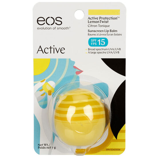 eos Active Sunscreen Lip Balm SPF15 - Lemon Twist - 7g