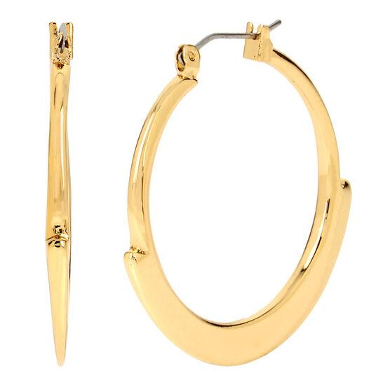 Robert Lee Morris Shiny Hoop Earrings - Gold