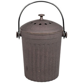 London Drugs Bamboo Compost Bin - Grey - 3.5L