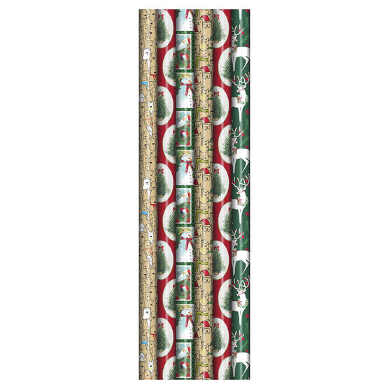 Plus Mark Lidge Gift Wrap - 30 x 240in - Assorted