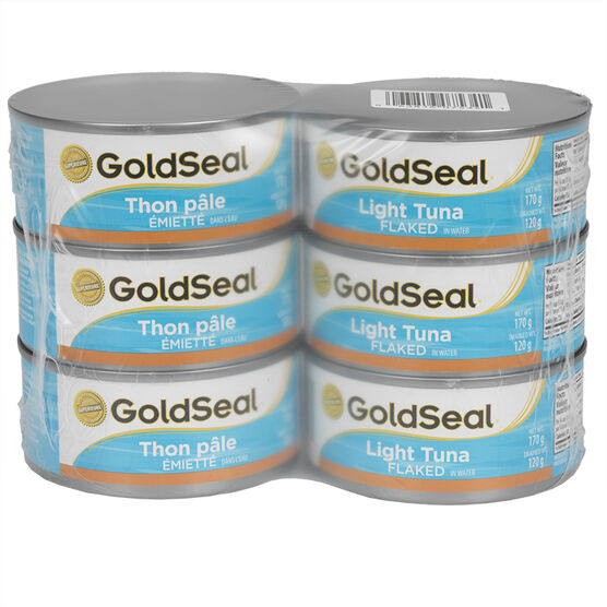 Gold Seal Light Tuna - Flaked in Water - 6 x 170g