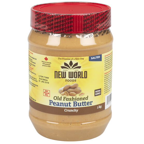 New World Peanut Butter - Crunchy - 1kg