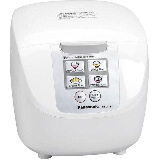Panasonic 10 cup Logic Rice Cooker - White - SRDF181