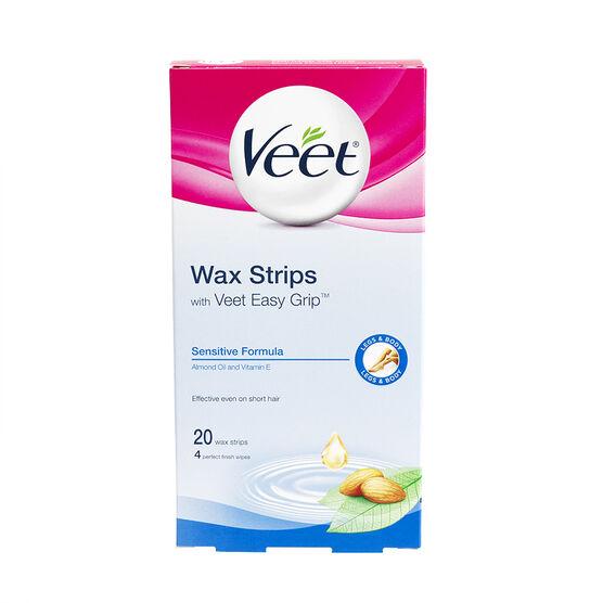 Veet Easy to Use Wax Strips - Sensitive Formula - 20's