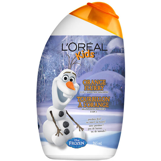 L'Oreal Kids Disney Frozen 2 in 1 Smoothie Shampoo - Orange Flurry - 265ml