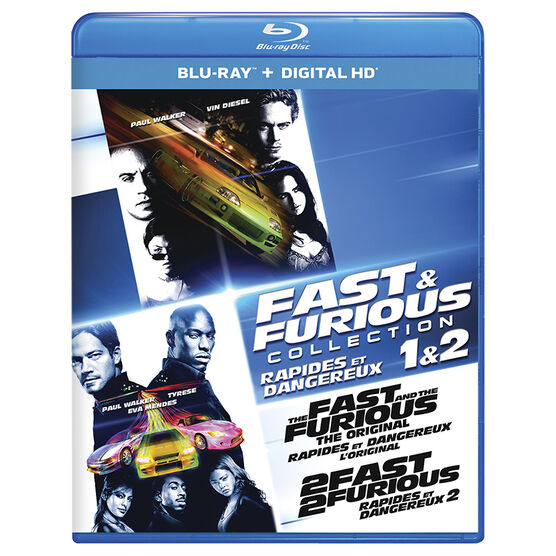 Fast and Furious Collection 1 and 2 - Blu-ray