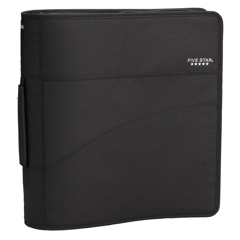 Five Star Zipper Binder with Handle - Assorted - 3 Inch | London Drugs