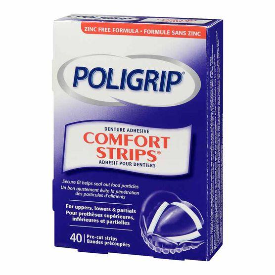 Poligrip Comfort Strips Denture Adhesive - 40's