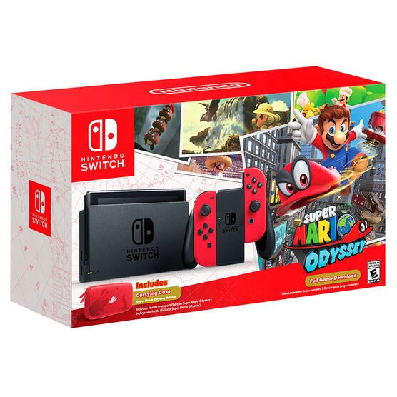 Nintendo Switch Hardware with Super Mario Odyssey Bundle - HACSKADLC