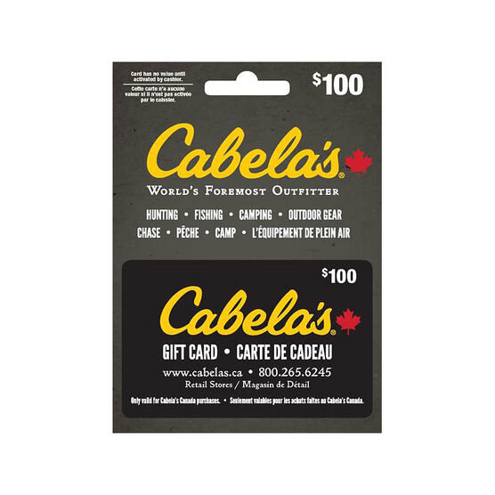 Cabelas Gift Card - $100