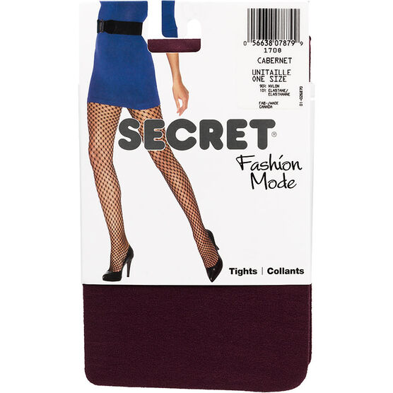 Secret Fashion Mode Tights - Cabernet