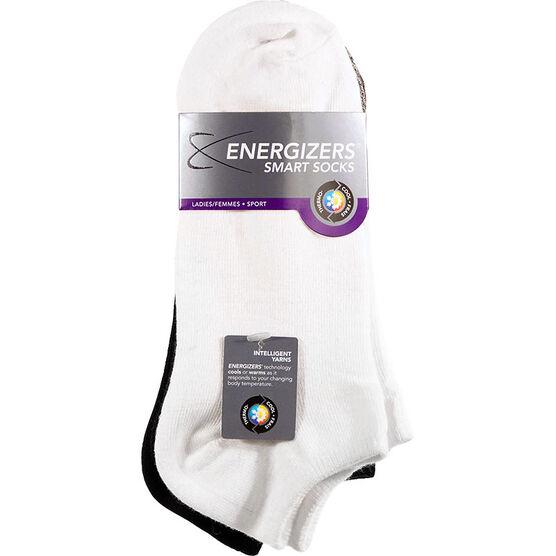 Energizers Ladies Sport Low Cut Smart Socks - 3 pairs - Assorted