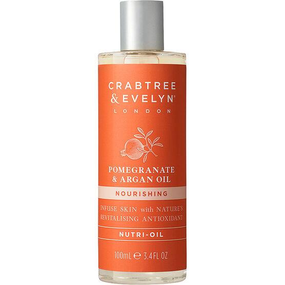 Crabtree & Evelyn Pomegranate & Argan Oil Nourishing Nutri-Oil - 100ml
