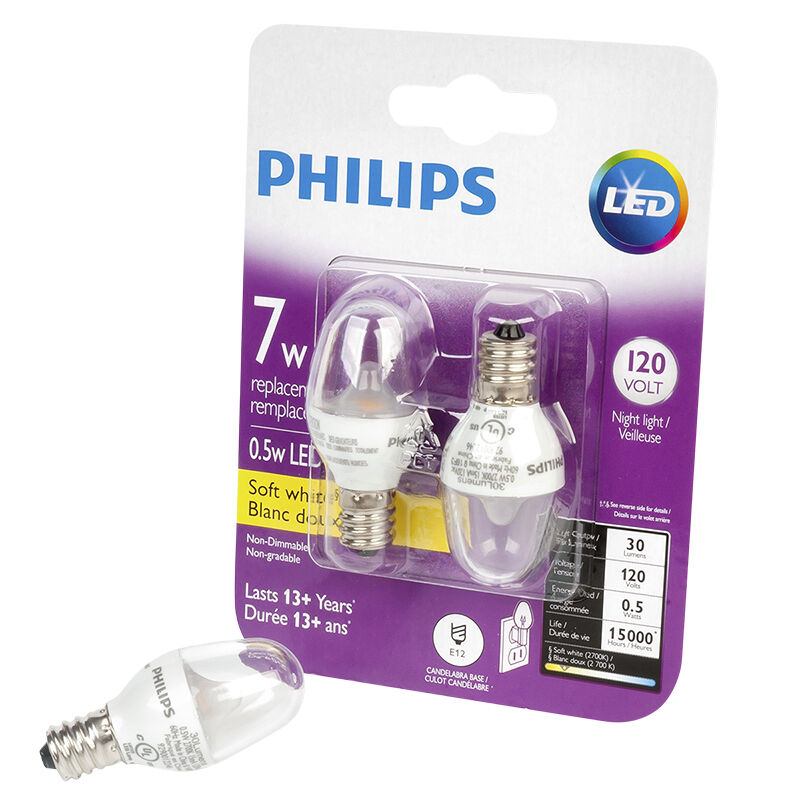philips e12 led light bulb 7w soft white
