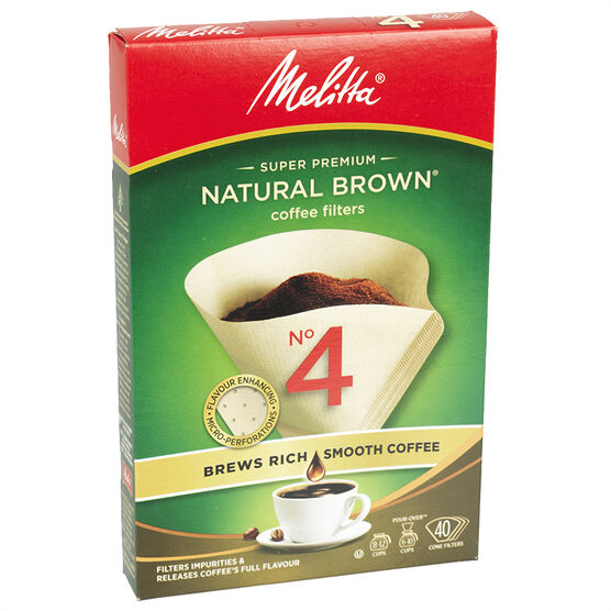 Melitta Coffee Filters - No.4 - Natural Brown - 40's