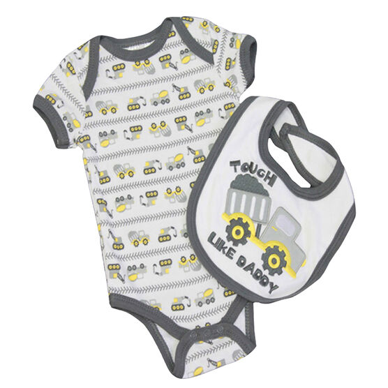 Baby Mode Tough Like Daddy Coverall and Bib Set - 0-9 months - Assorted