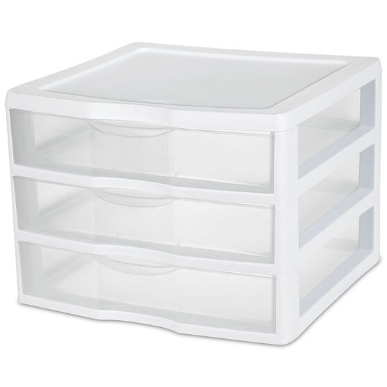 Sterilite ClearView™ Wide 3 Storage Unit