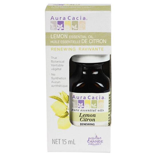 Aura Cacia Essential Oil - Lemon - 15ml
