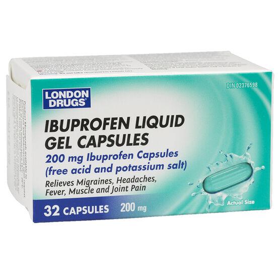 London Drugs Ibuprofen Liquid Gel Capsules - 200mg - 32's