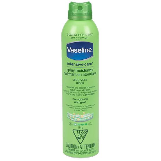 Vaseline Spray & Go Moisturizer - Aloe Fresh - 184g