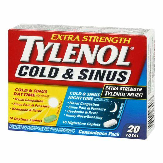 Tylenol* Extra-Strength Daytime & Nighttime Cold & Sinus - 20's
