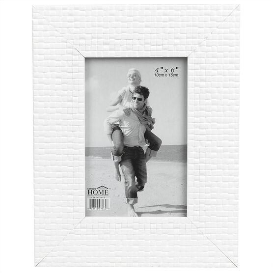 London Home White Mosaic Frame - 4x6