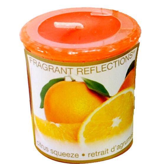 Fragrant Reflection Votive Candle - Citrus Squeeze