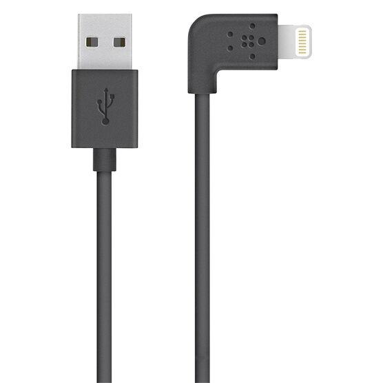 Belkin 90 Degree Lightning to USB Cable - Black - F8J147BT04BLK