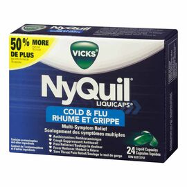 Vicks Nyquil Liquicaps for Colds and Flu - 24'S