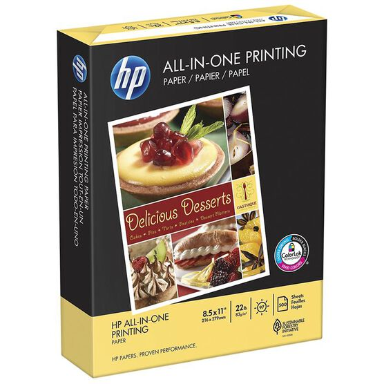 HP All-in-One Printing Paper - 8.5 x 11 inch - 500 sheets