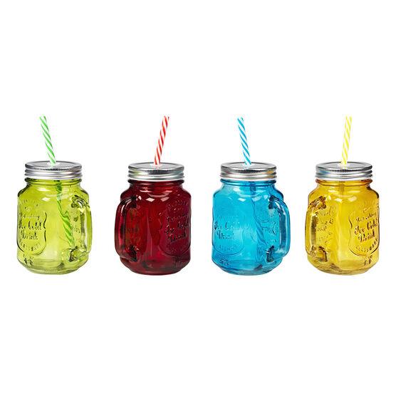 Mason Drinking Jars - 450mL- 4 piece
