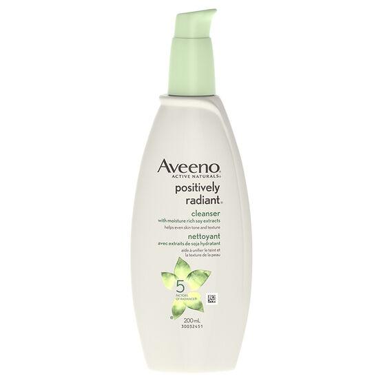 Aveeno Positively Radiant Cleanser - 200ml