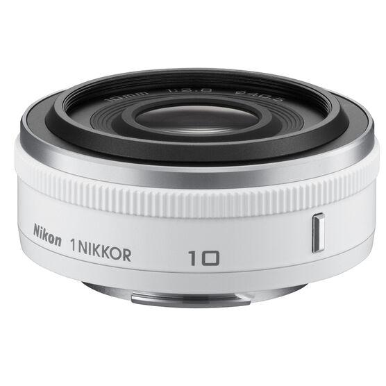 Nikon 1 10mm F/2.8 Lens - White - 3320 - Open Box Display Model