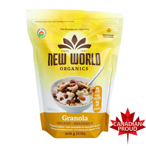 New World Organic Granola - Almond Cashew - 908g
