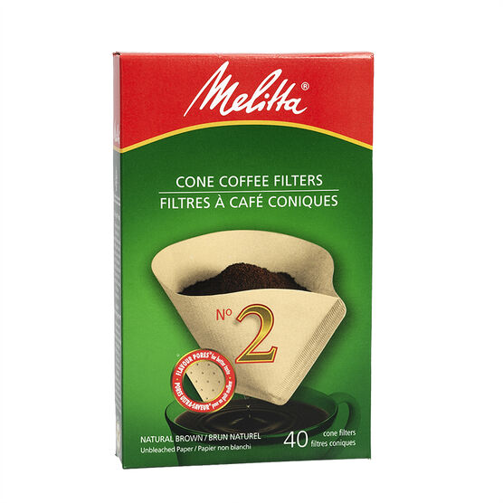 Melitta Coffee Filters - No.2 - Natural Brown - 40's