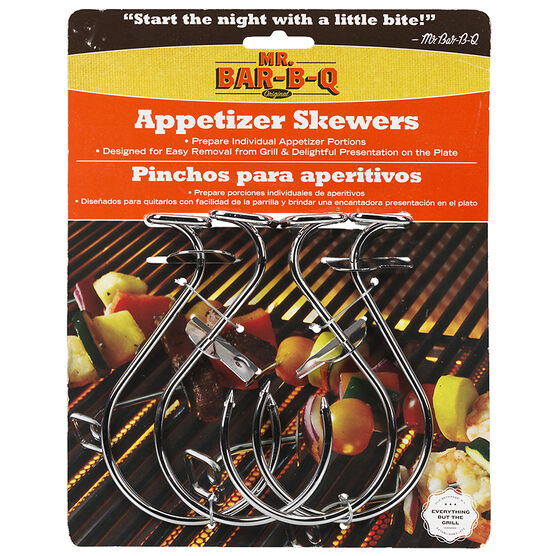 Mr. BBQ Skewer with Push Bar - 4 piece