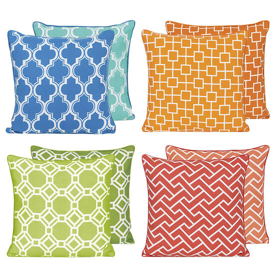 Boutique Geo Reversible Cushion - Assorted
