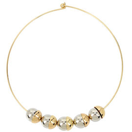 Haskell Choker Necklace - Grey/Gold
