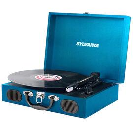Sylvania 3 Speed Portable USB Turntable - STT102USBBL
