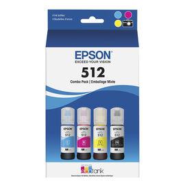 Epson EcoTank 512 Colour Ink Bottles - 4 Pack - T512520-S